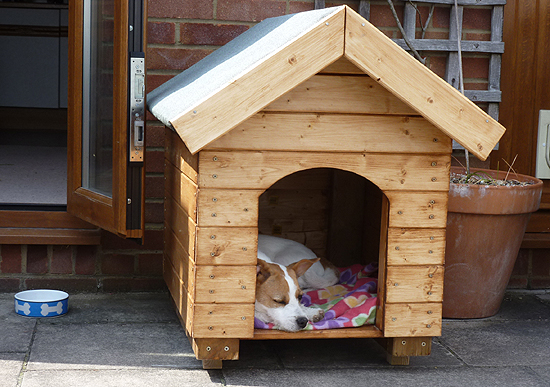 Log Cabin Dog Kennel