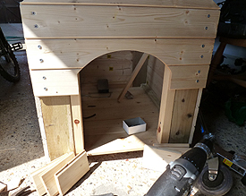 Dog Cabin Entrance