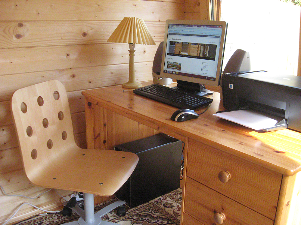 Log Cabin Office